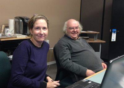 Peter Clarke from Metroland Media Renfrew Mercury and Sue Hall Holly Jolly
