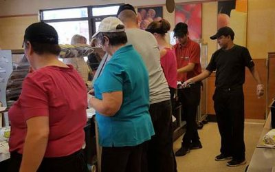 Subway fundraiser for hospice a big success