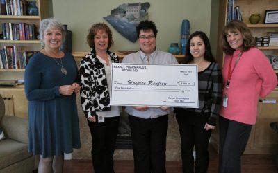 Local Rexall Makes Generous Donation to Hospice Renfrew