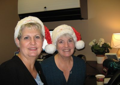 Kathy and Jeannie Dick Holly Jolly Radiothon