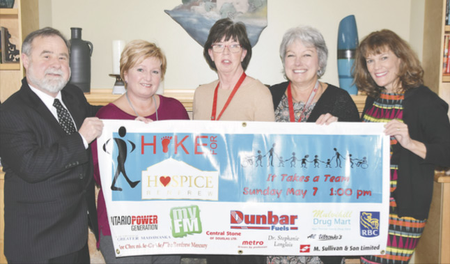 Hike For Hospice Renfrew is an important fundraiser