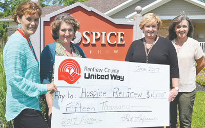 Hospice Renfrew welcomes new counsellor thanks to United Way