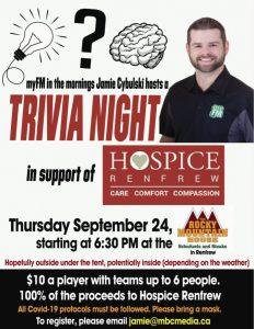 Trivia Night. Thursday September 24.